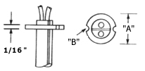 Flanged cartridge heater dimensions